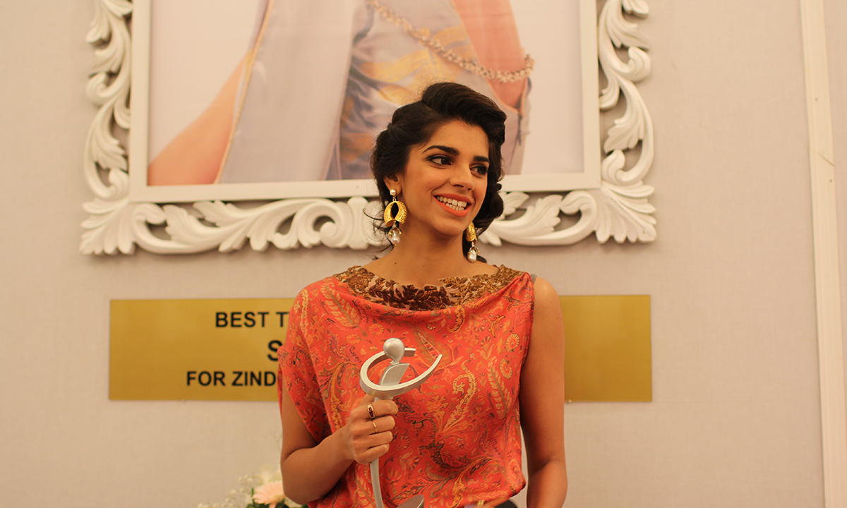 Sanam Saeed won Best TV Actress Satellite for 'Zindagi Gulzar Hai'. —Photo by Yumna Rafi
