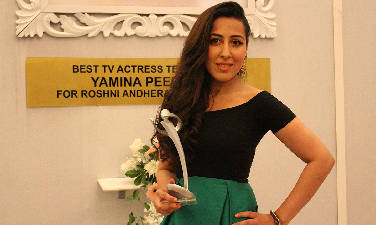 Mehwish Hayat and Yamina Peerzada (pictured) won the Best TV Actress Terrestrial. —Photo by Mahjabeen Mankani
