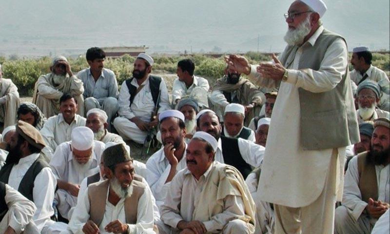 Tribal elders during a jirga.—AFP/File