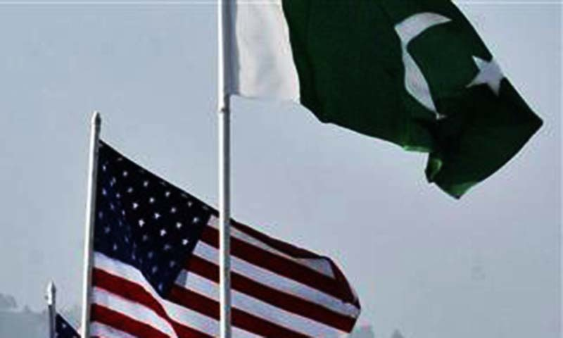 US and Pakistani flags are seen in front of the parliament building in Islamabad.   — Reuters/file
