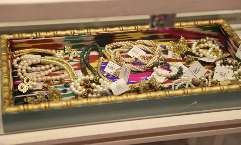 The swanky store also stocks statement jewelry. - Photo courtesy: Kashif-ud-Din.