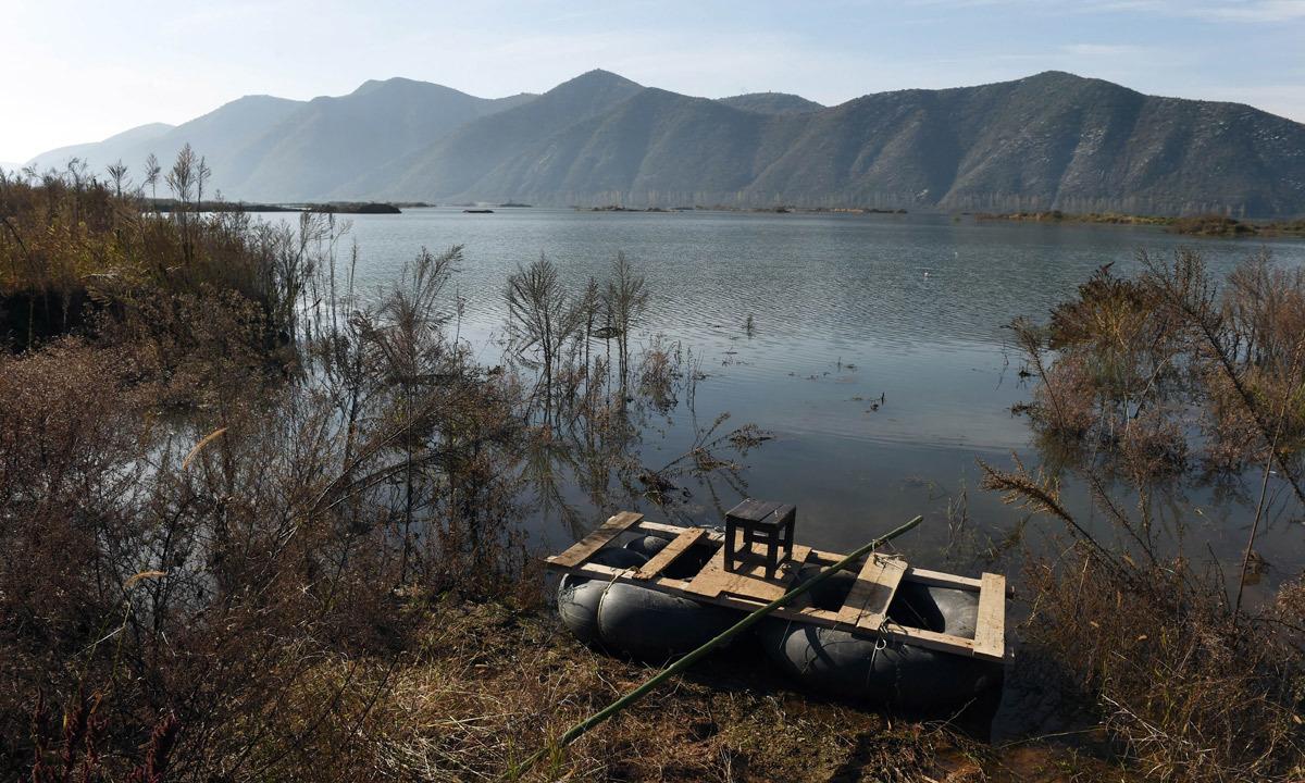 Danjiangkou China  City pictures : ... raft beside an expanded section of the Danjiangkou in China. – AFP