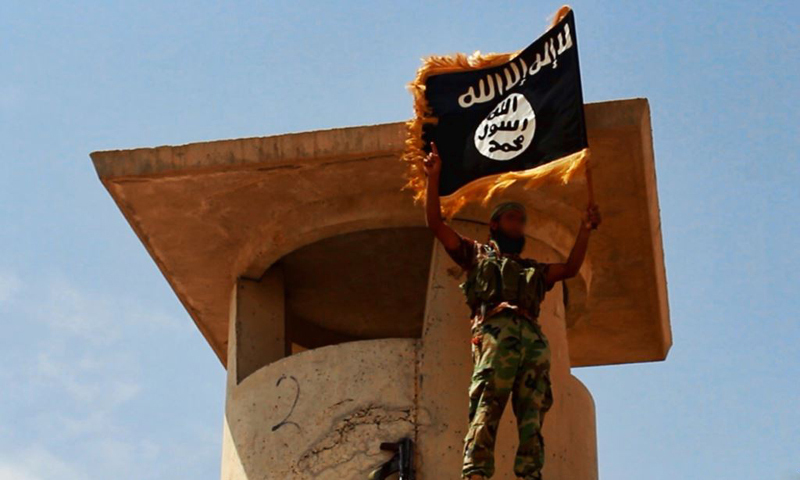 The image shows an IS militant. — Photo by AFP/File