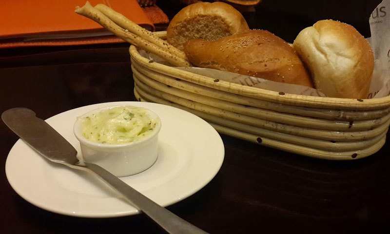 Freshly baked bread basket. – Photo by author