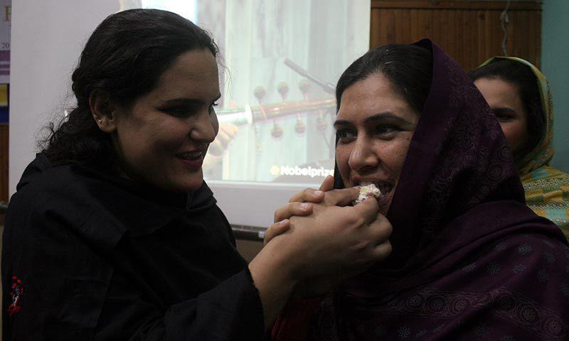 Malala Yousafzai's Nobel Peace Prize award was celebrated in Pakistan, including Peshawar. -Photo by Zahir Shah Sherazi