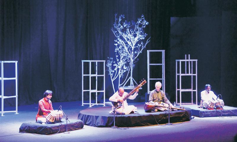 DR Stephen Slawek and Nafees Ahmed perform at Napa on Thursday.—Whit Star