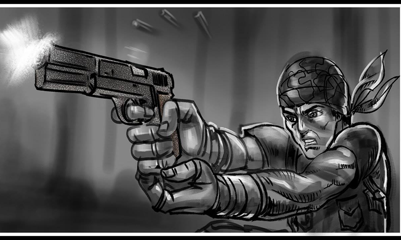 Image from the storyboard showing Shaan— Photo courtesy: Yalghaar's official Facebook page