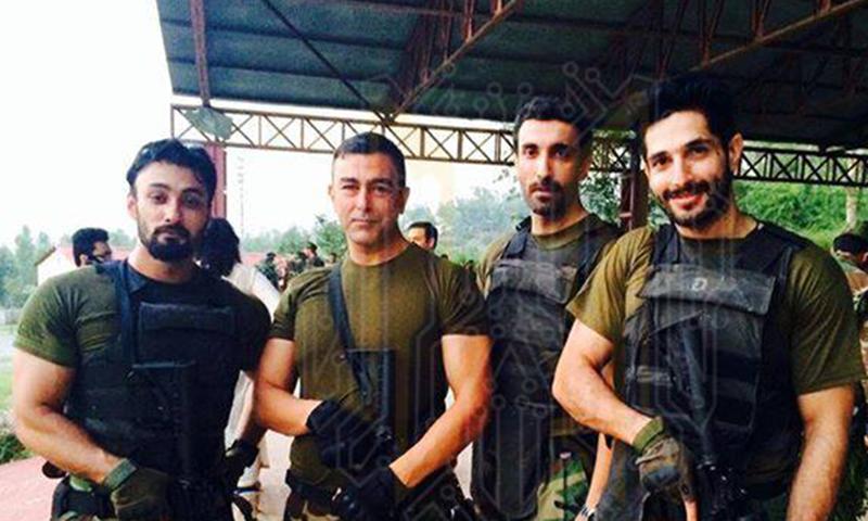 BTS: Shaan, Aamir Querashi, Umair Jaswal and Bilal Ashraf. — Photo courtesy: Yalghaar's official Facebook page