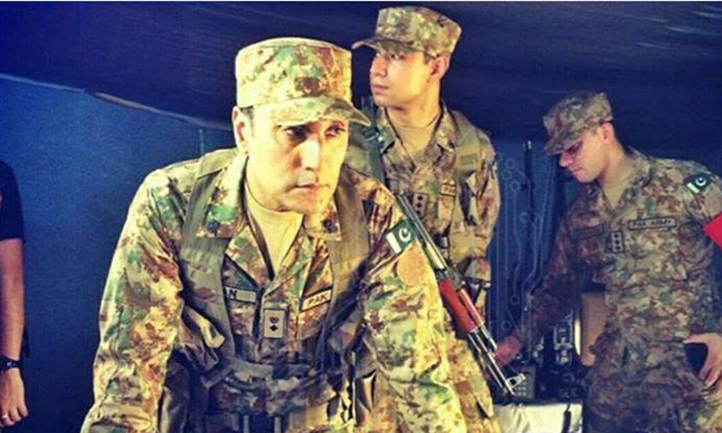 "BTS: Adnan Siddiqui in ""Yalghaar""— Photo Courtesy: Yalghaar's official Facebook page"