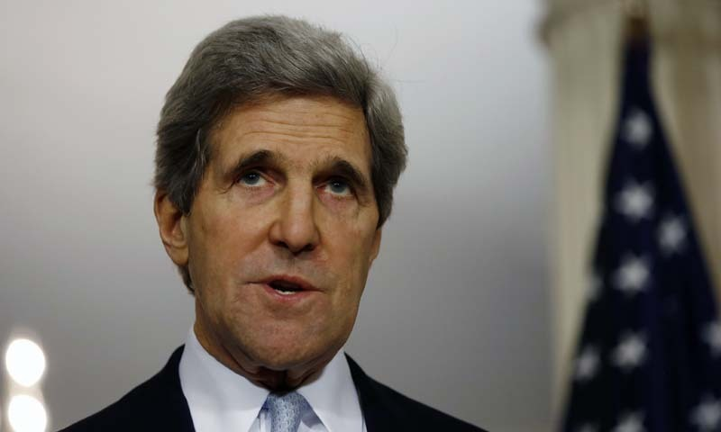 US Secretary of State John Kerry speaks to the press at the State Department in Washington. - Reuters/File
