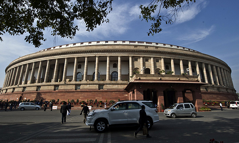 In the photo, Indian lawmakers arrive at the parliament in New Delhi. — AFP/File
