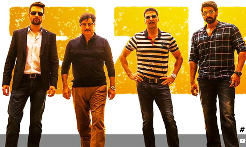 Mikaal Zulfiqaar with Anupam Kher and Akshay Kumar in film's poster. — Courtesy Photo