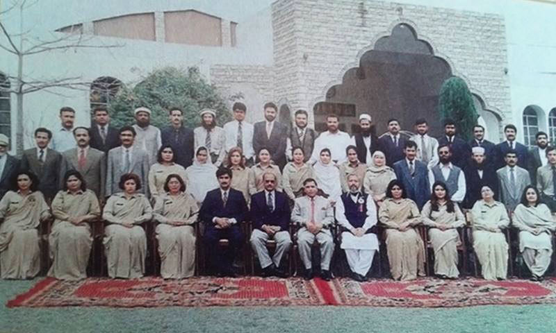 Staff members of the Army Public School, Peshawar from the yearbook for the academic year 1999-2000. —Photo by author