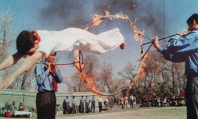 Sports Day at the Army Public School, Peshawar from the yearbook for the academic year 1999-2000. —Photo by author