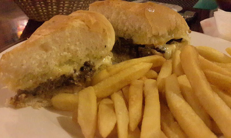 Wasabi Steak & Cheese Sandwich. —Photo by author