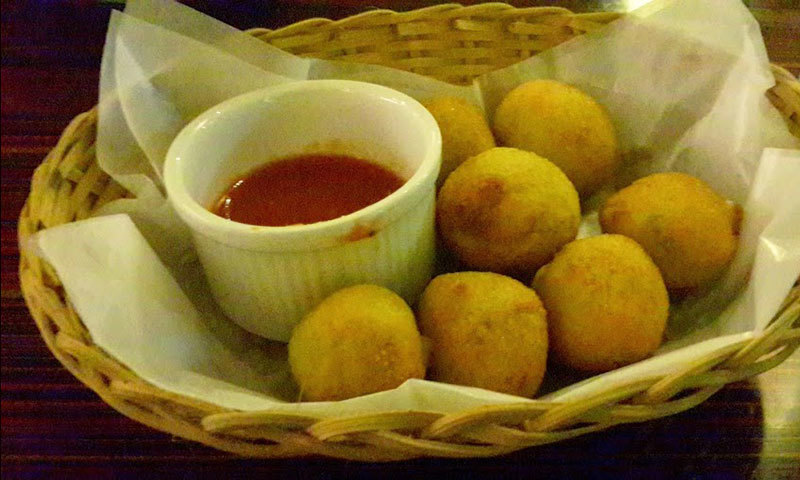 Jalapeno Cheese Balls. – Photo by author