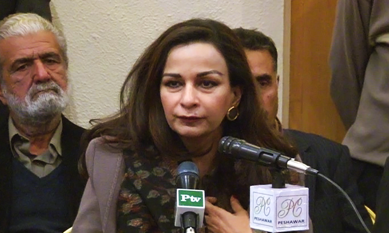 Pakistan Peoples Party leader Sherry Rehman. - DawnNews screengrab