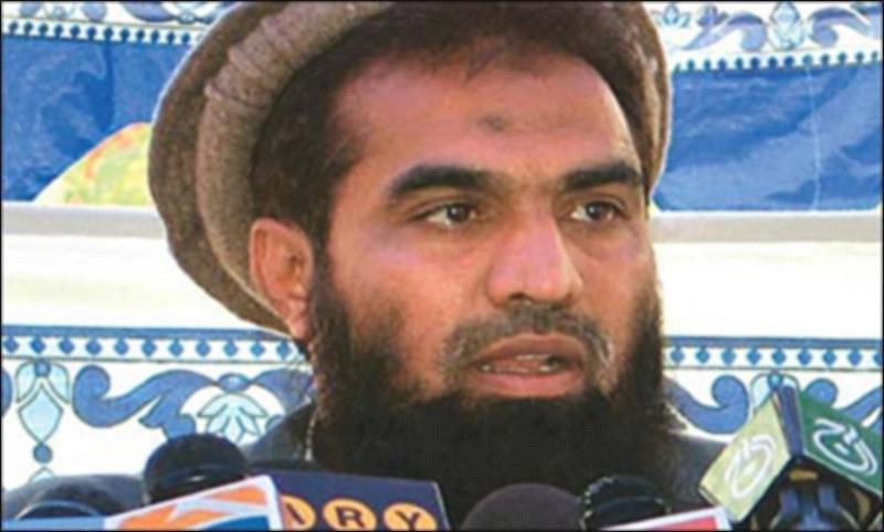 Zakiur Rehman Lakhvi. - DawnNews screengrab