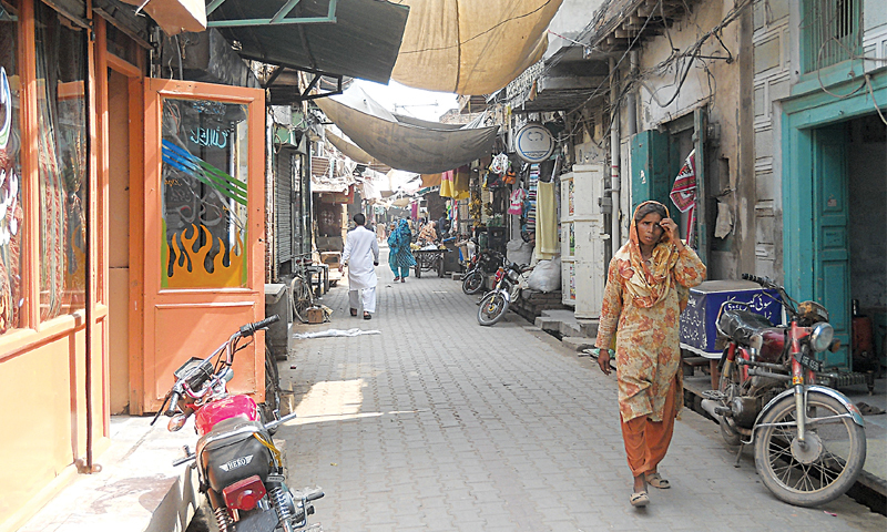 A view of the main bazaar