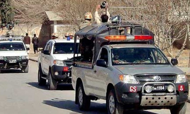 Security forces patrolling in Balochistan. — APP/file