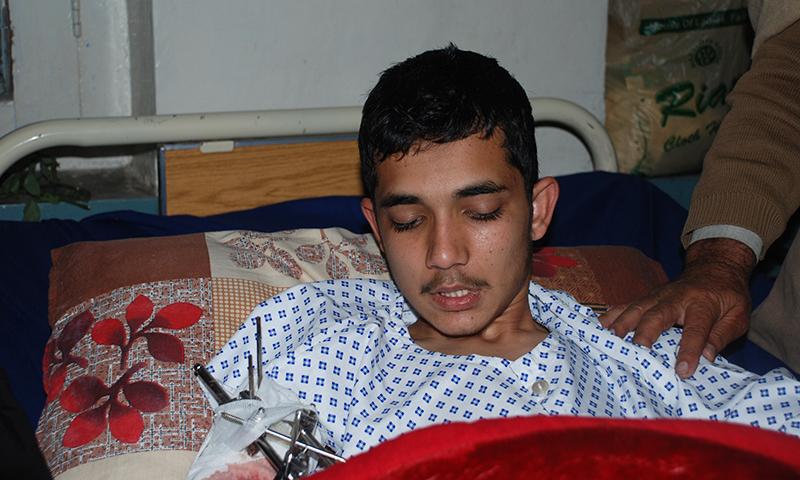 Anas Khan at Lady Reading Hospital.
