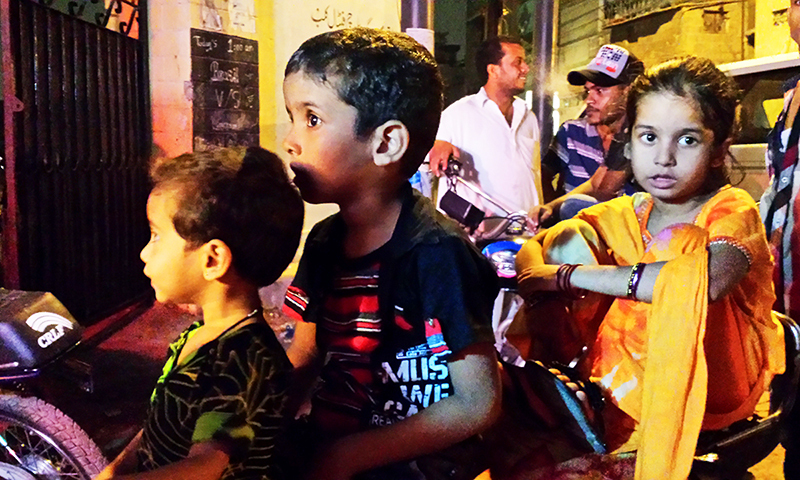 """When we introduce them to the more positive aspects of life, they return to Lyari lost in those happy thoughts,"" says Sabina.—Photo: Dawn.com"