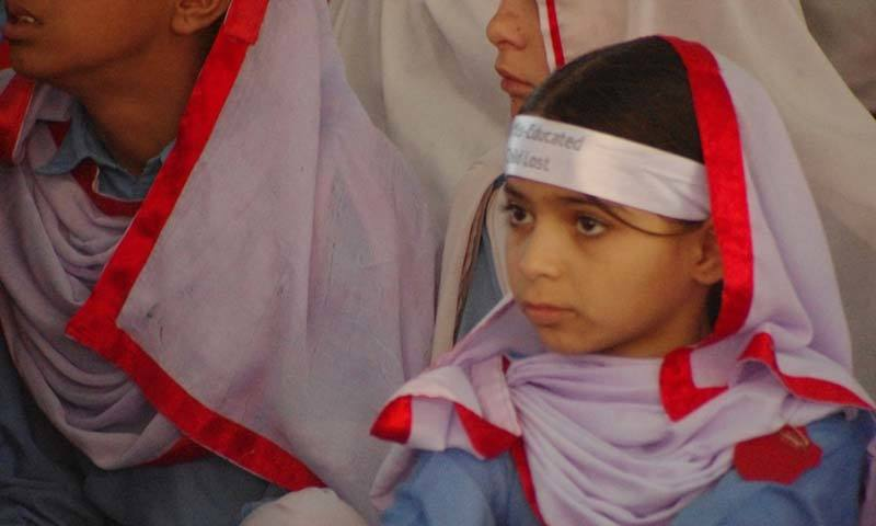 A girl at a public school.—Syed Ali Shah/File