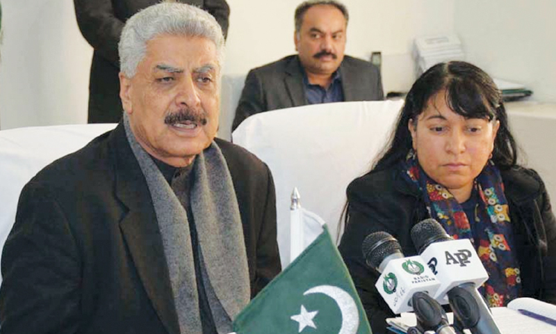 minister for States and Frontier Regions Abdul Qadir Baloch.—INP