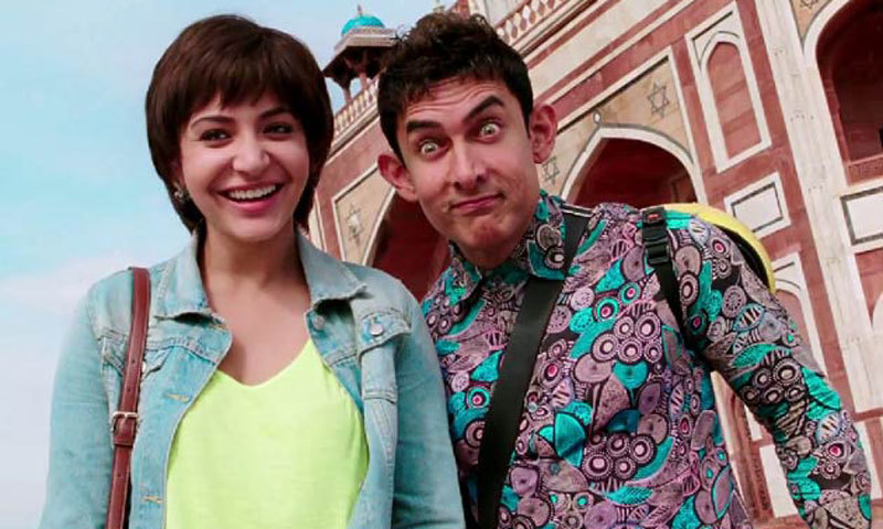 Anushka Sharma and Aamir Khan star as the leads in PK. – Photo courtesy: koimoi.com