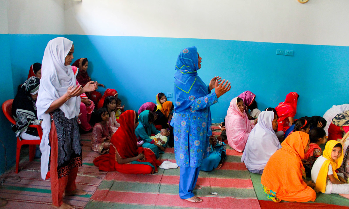 Women at a Mass in one of the churches in Essa Nagri. — Affan Shah