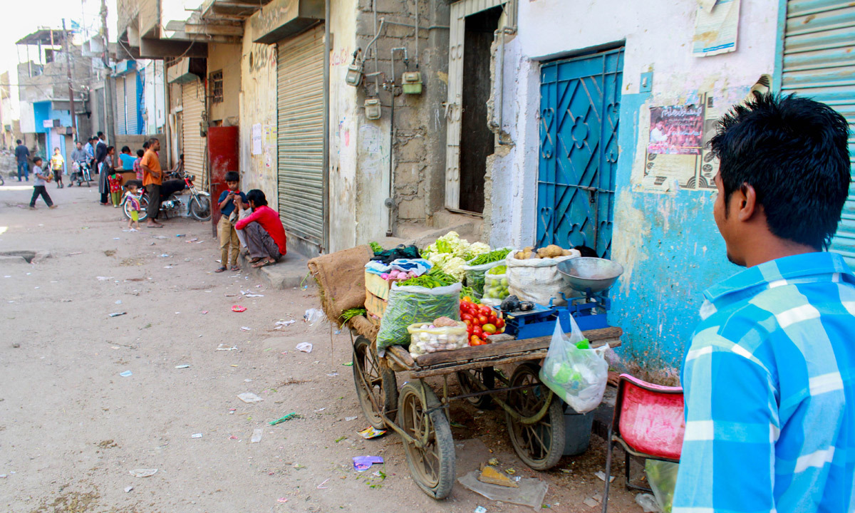 The streets are lined with small shops and vendors.— Umer Sheikh