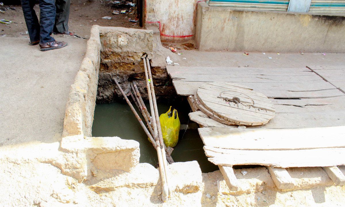 """The water supplied to our houses is usually mixed with sewage.""— Umer Sheikh"