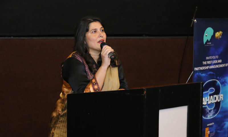 Sharmeen Obaid Chinoy speaks at the event. – Publicity photo