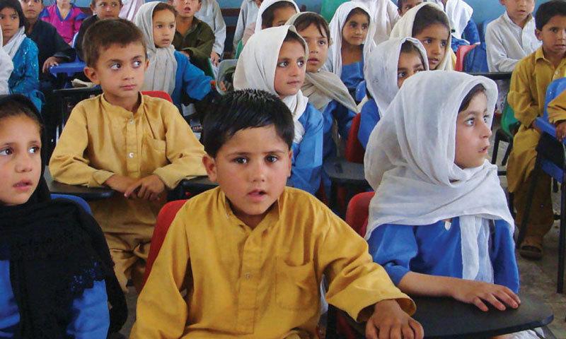Children are attending class at Noor Model School. —  Photo by Sumaira Jajja