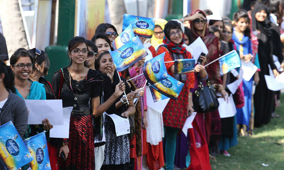 People auditioning for Pakistan Idol. – Photo credit: pakistanidol.com
