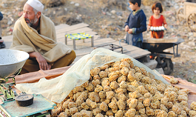 MANY residents of the I-11 kutchi basti near Pir Wadhai Adda, Islamabad, are Afghans who make their living by selling corn and jaggery. The slum settlement was raided after the Peshawar school massacre.—Tanveer Shahzad / White Star