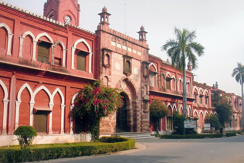 The Aligarh University that was formed by Sir Syed Ahmed Khan to modernise Muslim education in India.