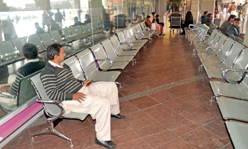 Islamabad airport is notorious for its Spartan facilities and travellers passing through the terminus have never been quite satisfied with the services on offer. — Dawn