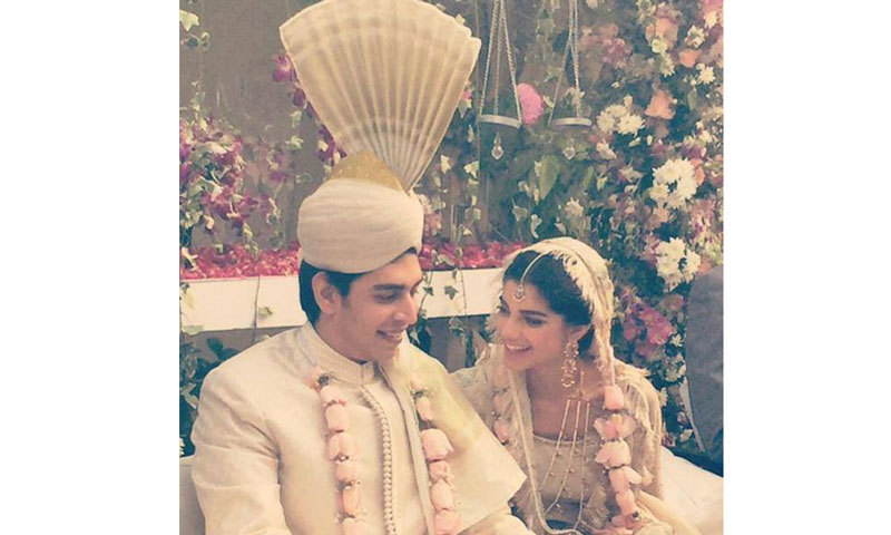 Sanam saeed with her husband