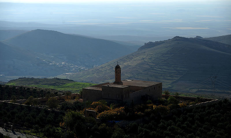 Mardin Mort Schmuni Church is seen with the Mesopotamia plain in the background in Mardin, southeastern Turkey. — AFP/file