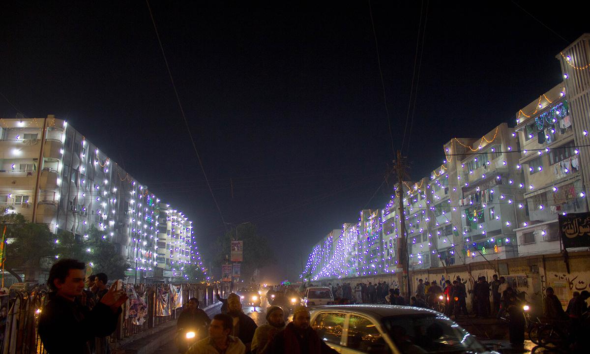 Apartments decorated with lighting. — Muhammad Umar