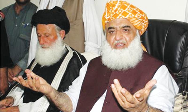 Jamiat Ulema-i-Islam-Fazl (JUI-F) chief Maulana Fazlur Rehman.—File photo