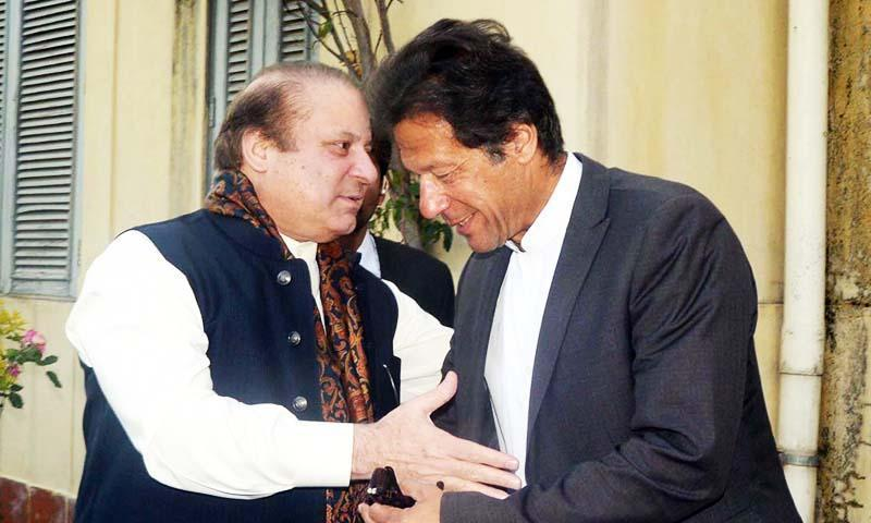 PM Nawaz Sharif and PTI chairman Imran Khan.—PPI/File
