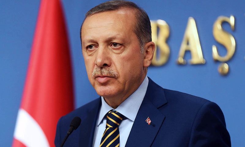 Turkish President Recep Tayyip Erdogan during a press conference in Ankara. —File/AFP