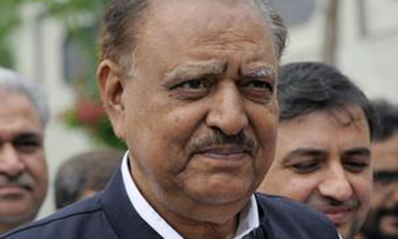 President Mamnoon Hussain - AP/File