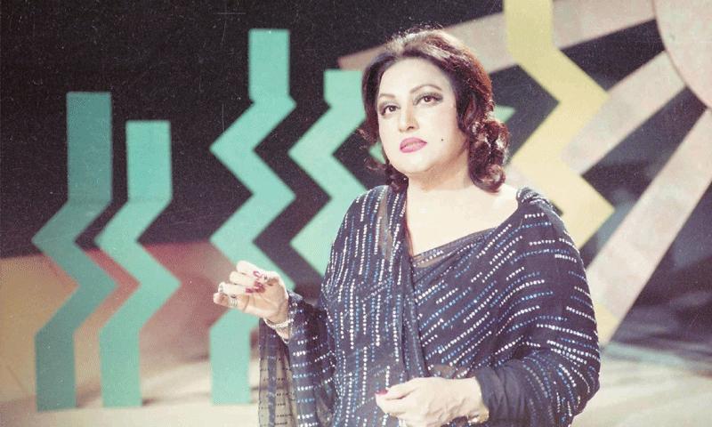 نور جہاں پی ٹی وی لاہور مرکز کے مقبول میوزک پروگرام ترنم کے پہلے شو میں