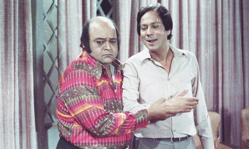 رفیع خاور المعروف ننھا اور احمد کمال رضوی الف نون کے ایک سین میں