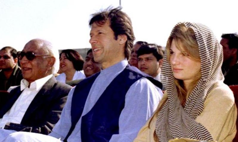 Imran Khan with his ex-wife Jemima Goldsmith.— Reuters/file