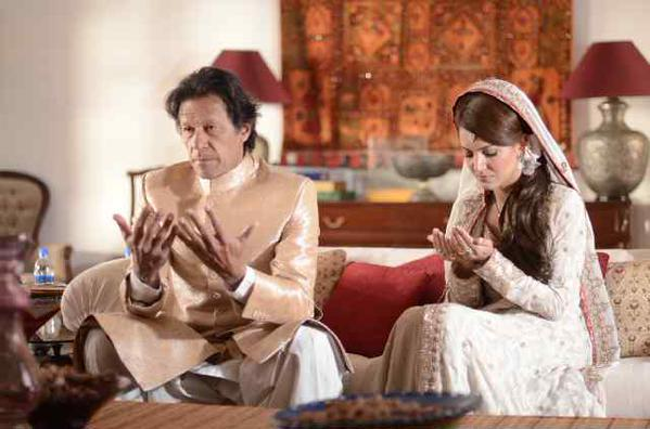 Imran and Reham Khan during their Nikkah ceremony - Twitter