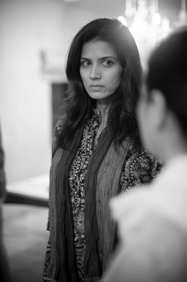 Savera Nadeem, BTS Good Morning Karachi. — Photo Courtesy: Official Facebook page of 'Good Morning Karachi'